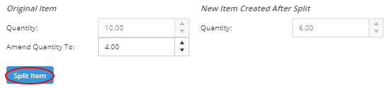 Split Quantities of an Item or Kit Automatically