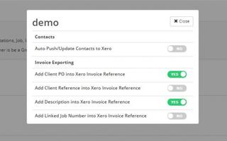 More Control of the Xero Export