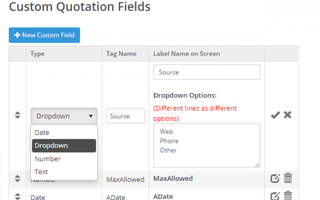 Create Custom Fields as Dropdowns, Dates, Numbers, & Text
