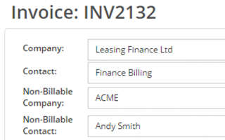 Setting a Different Company to Bill an Invoice