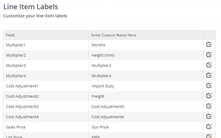 Change columns names, e.g. 'List Price' to 'MRP', 'Sales Price' to 'Final Price' or 'Multiplier1' to 'Hire Weeks', etc.