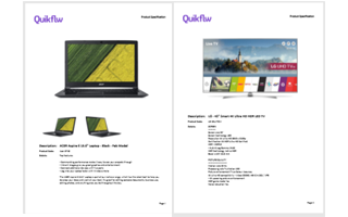 Better Control of Spec Sheet Pages – One Product per Page